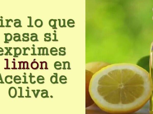 Beneficios de mezclar limón y aceite de oliva